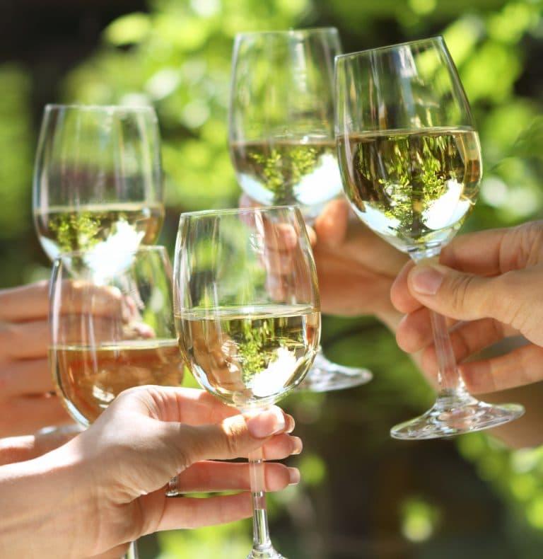 Anstoßen mit Wein ©Dasha Petrenko