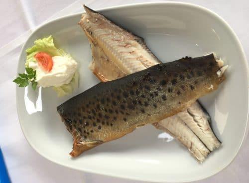 Geräucherte Forelle, Cafe Restaurant Strasek