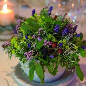 Blumengesteck, Retter Hotel Bio Restaurant ©Retter